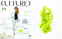 Kyle DeWoody of Shop Grey Area NYC on the cover of Cultured Magazine with yellow knot